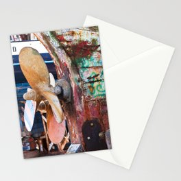 Old Port of Alcitrezza with a Wreck in Sicily Stationery Cards