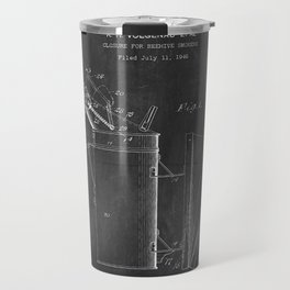 Beehive Smoker Patent with Bees Collage Travel Mug