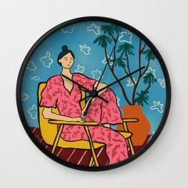 PLANT LADY AT HOME Wall Clock