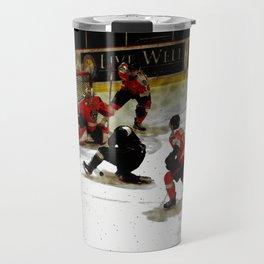 The End Zone - Ice Hockey Game Travel Mug