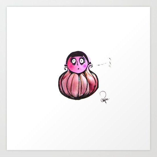 Garlic girl Art Print
