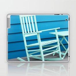 Coastal Beach House Art - Blue Rocking Chair - Sharon Cummings Laptop & iPad Skin