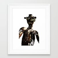 robot Framed Art Prints featuring robot by Кaterina Кalinich