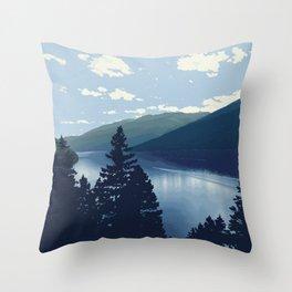Slocan Lake (no writing) Throw Pillow