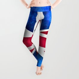 Grunge British Flag Leggings