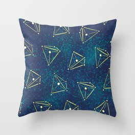 Tetrahedral Molecular Geometry Constellation Art Throw Pillow