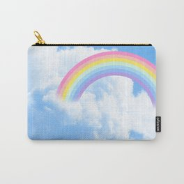 Cotton candy blue sky with rainbow Carry-All Pouch