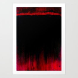Red and Black Abstract Art Print