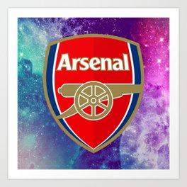 Arsenal Galaxy Design Art Print