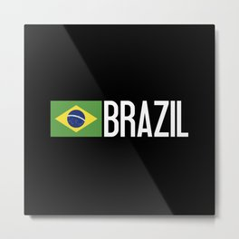 Brazilian Flag Metal Print