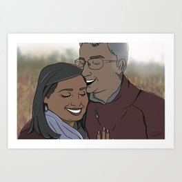 MY AUNT AND UNCLE 2d Art Print