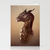 smaug Stationery Cards featuring Smaug the Golden by SUIamena