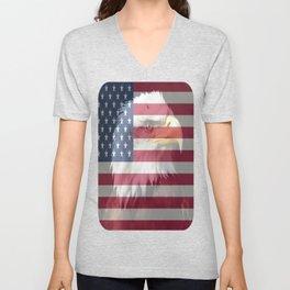 United States Freedom Eagle Unisex V-Neck