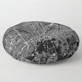 Houston Black Map Floor Pillow