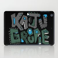 kaiju iPad Cases featuring Kaiju Groupie by Rachel Young