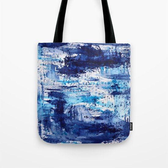 Blue passion || watercolor Tote Bag