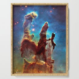 Hubble Telescope: Pillars of Creation Serving Tray
