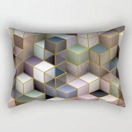 Cubes in Pastels Rectangular Pillow