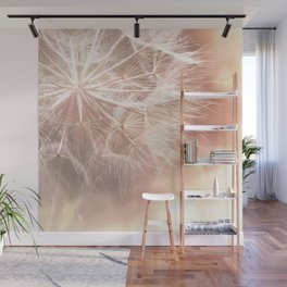 Pink Macro (2) Dandelion Flower - Floral Nature Photography Art and Accessories Wall Mural