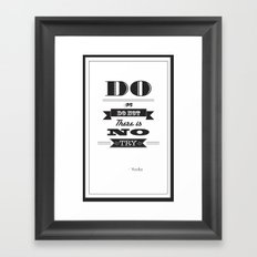 star wars too Framed Art Print