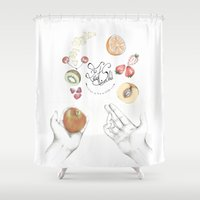 cooking Shower Curtains featuring Happy Cooking by Ana Mendes