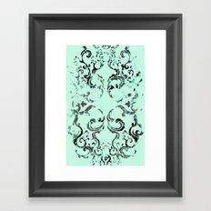 Squirrel Swirl Framed Art Print