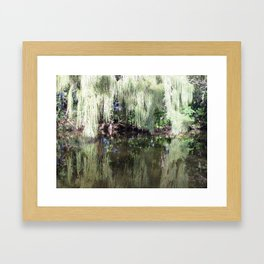 Moss in Reflection Framed Art Print
