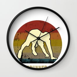Crunning Running Crawling Jogging Sport Trend Gift Wall Clock