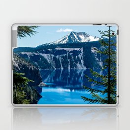 Crater Lake // Incredible National Park Views of the Dark Blue Waters Sky and Mountains through the Laptop & iPad Skin
