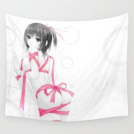Aoyama Sumika Pink Ribbon Wall Tapestry