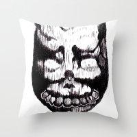 donnie darko Throw Pillows featuring Donnie Darko Frank by Froleyboy
