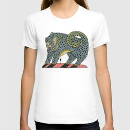Leopard Dog With Tulip T-shirt
