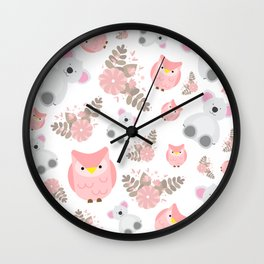 Pink Cuties Wall Clock