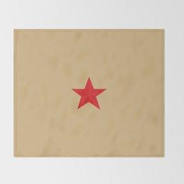 Red Star Communist Throw Blanket