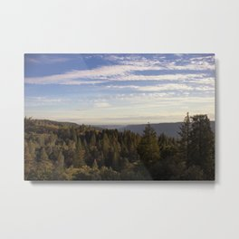 Overlooking the canyon into the fog Metal Print