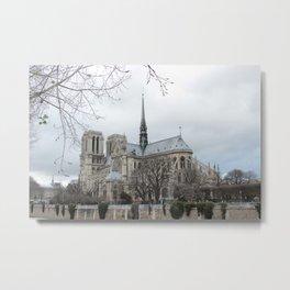 Notre Dame in Winter Metal Print