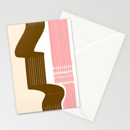 Classic Neapolitan Ice Cream Abstract Stationery Cards