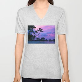 Tahitian Sunset Unisex V-Neck