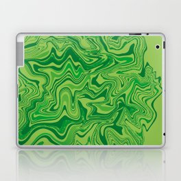 Green Agate Liquid Marble Laptop & iPad Skin
