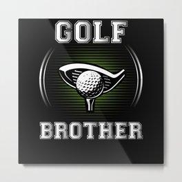 Golf Brother Metal Print