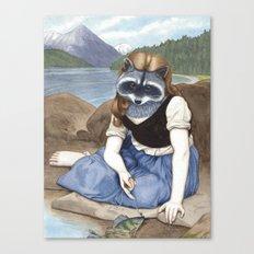 La Raton-laveuse Canvas Print