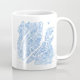 Copenhagen Denmark watercolor city map Coffee Mug