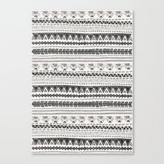 Dark aztec Canvas Print