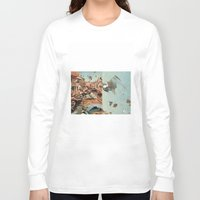 italy Long Sleeve T-shirts featuring Little Italy by Paul Prinzip