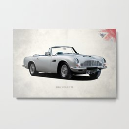 The DB6 Volante Metal Print