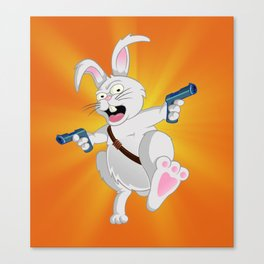 Bad Wabbit Canvas Print