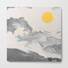 Grey Shine Metal Print