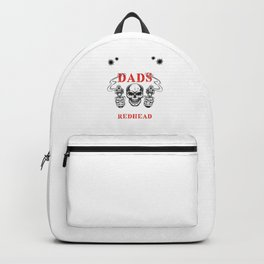 Redhead Ginger Skull Red Hair Redheads Gift Backpack