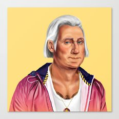 Hipstory -  George Washington Canvas Print