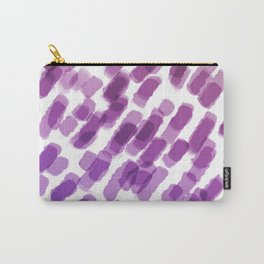Purple Watercolor Brush Strokes Abdtraction Carry-All Pouch